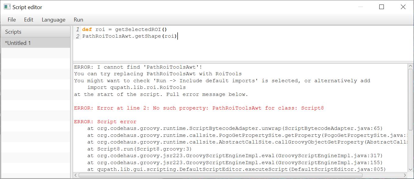 Scripting error